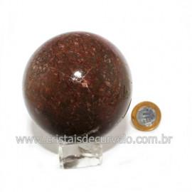 Esfera Calcedônia Mosaico Pedra Natural Lapidação Bola cod 119096