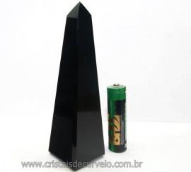 Obelisco Obsidiana Negra Pedra Vulcanica Natural Cod OO7548