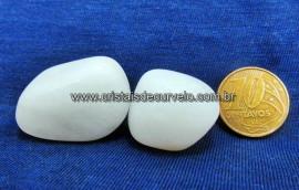 02 Quartzo Leitoso Rolado Unidade Pedra Natural Cristal Rocha de Garimpo Cod 30.9
