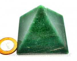 Piramide Pedra Quartzo Verde Baseada Queops Lapidado Manual Cod PV224.8