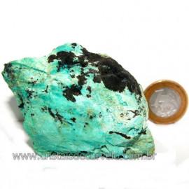 Crisocola Bruto Natural Pedra Nativa do Cobre Cod 113611
