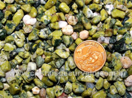 Jade Verde Rolado Miudo Pacotinho 100Gr Media Qualidade REFF RM1427