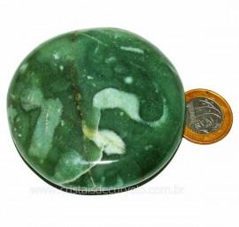 Massageador Disco Quartzo Verde Pedra Natural Cod 103299
