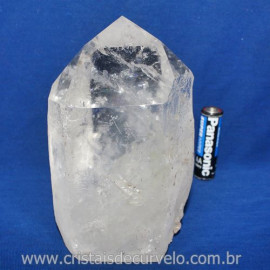 Ponta Cristal Bruto Natural Base e Ponta Lapidado Cod 121711