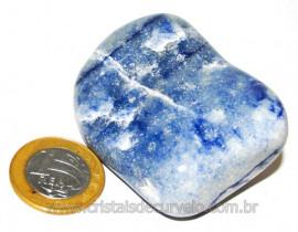 Massageador De Seixo Pedra Quartzo Azul Natural Cod 106022