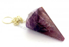 10 Pendulo AMETISTA COMUM Pedra Facetado ATACADO REFF PA1710