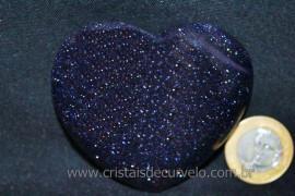 Coração Pedra Estrela Azul Pigmento Dourado Cod CE6313