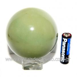 Esfera Quartzo Verde Pedra Natural Bola Lapidado Cod 118803