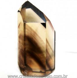 Ponta Citrino Natural e Fume Pedra Quartzo Bi Color 109294