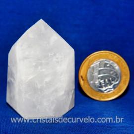 Ponta Quartzo Leitoso Lapidado Gerador Sextavado Cod 118133