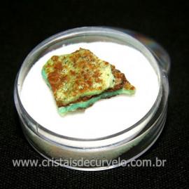 Crisoprasio Bruto Lasca No Estojo Mineral Natural Cod 118534