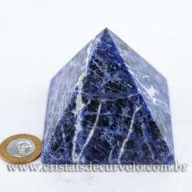 Pirâmide Pedra SODALITA Grande Baseada Queops Cod 120730
