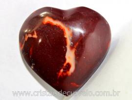 Coração Dolomita Vermelha Pedra Natural Tamanho Medio Presente Ideal Cod 70.2