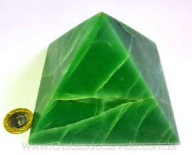 Pirâmide GRANDE Pedra Quartzo Verde Natural Queops cod PG9624