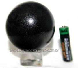 Esfera Pedra Quartzo Preto ou Quartzito Natural Cod BP5173