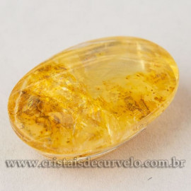 Hematoide Amarelo Cabochão Oval Gema Para Montar Joias 112735