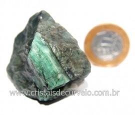 Esmeralda Canudo Incrustado Matriz Xisto Pedra Natural Cod 121320