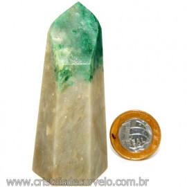 Ponta Jade Verde Lapidado Pedra Natural de Garimpo Cod 109842