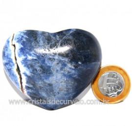 Coração Sodalita Pedra Azul Natural de Garimpo Cod 124094