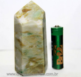 Ponta Nefrita Lapidado Pedra Natural de Garimpo Cod 101470
