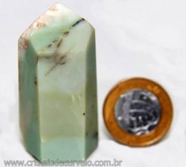 Ponta Pirofilita Verde Gerador Pedra Com Dendrita Cod 101513