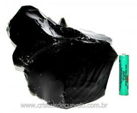 Obsidiana Negra Mineral Vulcânico Pedra Natural Cod 110143