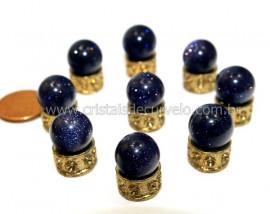 03 Bolinha Pedra Estrela Azul 14mm Sem Furo REFF BS9726