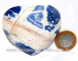 Coração Sodalita Pedra Azul Natural de Garimpo Cod 121271
