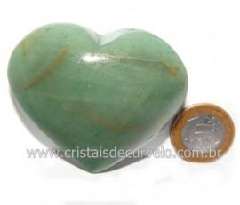 Coração Quartzo Verde Natural Comum Qualidade Cod 119836