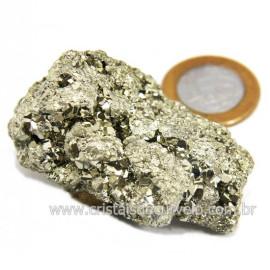 Pirita Peruana Pedra Extra Com Belos Cubo Mineral Cod 124233
