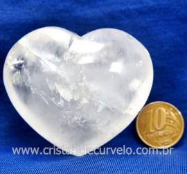Coração Cristal Comum Qualidade Natural Garimpo Cod 128000