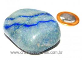 Massageador De Seixo Pedra Quartzo Azul Natural Cod MA2482
