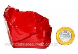 Jaspe Vermelho Pedra Natural Mineral de Esoterico Cod JV8242