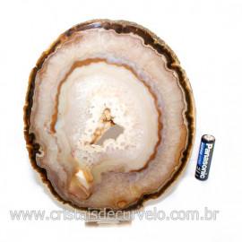 Chapa de Agata Preta Porta Frios Bandeja Pedra Natural 128768