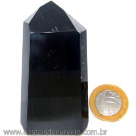Ponta Obsidiana Negra Mineral Vulcanico Natural Cod 109593