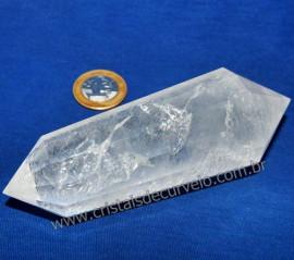 Voguel Cristal Bi terminado Pedra Comum 12 Facetas Cod 109504