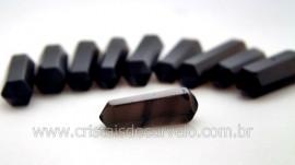 10 Bi Terminado OBSIDIANA NEGRA Pedra Extra Lapidado Bi Ponta Tamanho 2.5  Cm