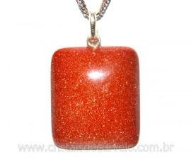 Pingente Retangulo Pedra do Sol Pino Prata 950 Reff PR8814