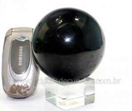 Esfera Pedra Quartzo Preto ou Quartzito Natural Cod BG6228