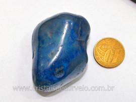 01 Agata Azul Rolado Pedra Natural de Garimpo Esoterismo Colecionador Reff 42.7