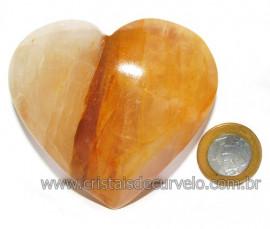 Coração Hematoide Amarelo Natural Presente Ideal Cod 115966
