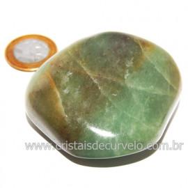 Massageador De Seixo Pedra Quartzo Verde Natural Cod 123848