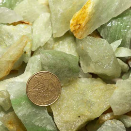 03kg Cascalho Onix Verde Pedra Bruto Pra Orgonite 125556