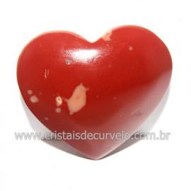 Coraçao Jaspe Vermelho Pedra Natural de Garimpo Cod 118263