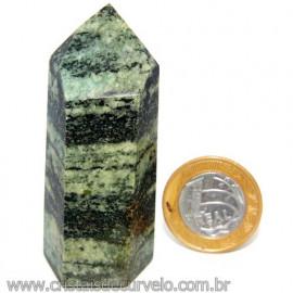 Ponta Pedra Quartzo Brasil Natural Gerador sextavado 113868