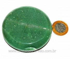Massageador Disco Quartzo Verde Pedra Natural Cod 103296