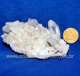 Drusa Cristal Pedra Quartzo Natural Boa Qualidade Cod 123627