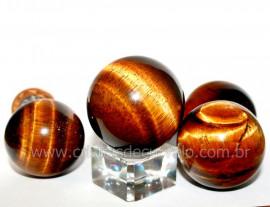 Esfera Olho de Tigre Bola Mineral Origem Africa Tamanho P Reff BT3501
