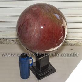 Bola Gigante 124kg Quartzo Vermelho Pedra Natural Cod 121082