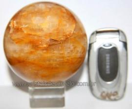 Esfera Hematoide Amarelo Pedra Natural Lapidada Cod EH9089